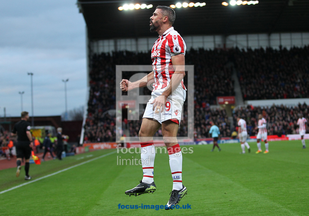 Jonathan Walters of Stoke City celebrates after scoring the first goal against Burnley during the Premier League match at the Bet 365 Stadium, Stoke-on-Trent.<br /> Picture by Michael Sedgwick/Focus Images Ltd +44 7900 363072<br /> 03/12/2016