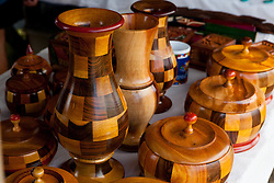 Finely crafted wooden souvenirs for sale in Mexico.