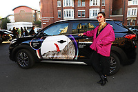 Cate Le Bon poses with Hyundai car during the 2019 Hyundai Mercury Prize, Eventim Apollo, London, UK, Saturday 06 July 2019<br /> Photo JM Enternational