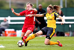 Lauren Hemp of Bristol City Women takes on Louise Quinn of Arsenal Ladies - Mandatory by-line: Robbie Stephenson/JMP - 03/06/2017 - FOOTBALL - Stoke Gifford Stadium - Bristol, England - Bristol City Women v Arsenal Ladies - FA Women's Super League Spring Series