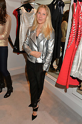 LEONORA BAMFORD at a party at Herve Leger, Lowndes Street, London on 12th November 2014 to view the latest collection.
