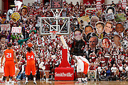 BLOOMINGTON, IN - NOVEMBER 15: Indiana Hoosiers fans use celebrity cutouts to try to distract a free throw during the game against the Sam Houston State Bearkats at Assembly Hall on November 15, 2012 in Bloomington, Indiana. The Hoosiers won 99-45. (Photo by Joe Robbins) *** Local Caption ***