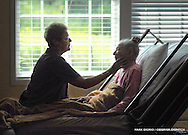 From left, Marcia Garber meets with her mother Helen Hurd, 96, a resident at the Siegenthaler Center at Hospice & Palliative Care, August 22, 2012, in New Hartford, N.Y. Hurd passed away September 6, 2012.