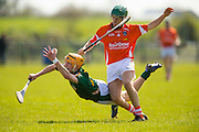 Christy Ring Cup. Meath vs Armagh at Trim, 4st May 2013<br /> Adam Gannon (Meath) &amp; Barry Breen (Armagh)<br /> Photo: David Mullen / www.cyberimages.net &copy; 2013