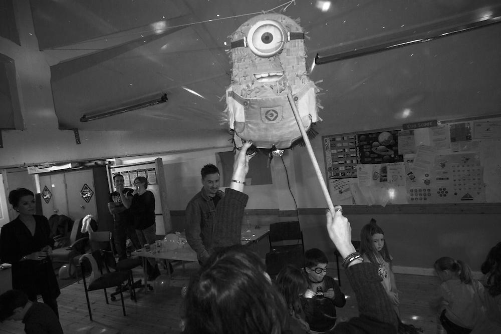 Minion Piñata at a party in Berkhamsted, England  Saturday, Feb. 13, 2016 (Elizabeth Dalziel) #thesecretlifeofmothers #bringinguptheboys #dailylife