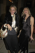 Bay Garnett and Alannah Weston, British Fashion Awards, V. & A. Museum. 2 November 2004. ONE TIME USE ONLY - DO NOT ARCHIVE  © Copyright Photograph by Dafydd Jones 66 Stockwell Park Rd. London SW9 0DA Tel 020 7733 0108 www.dafjones.com