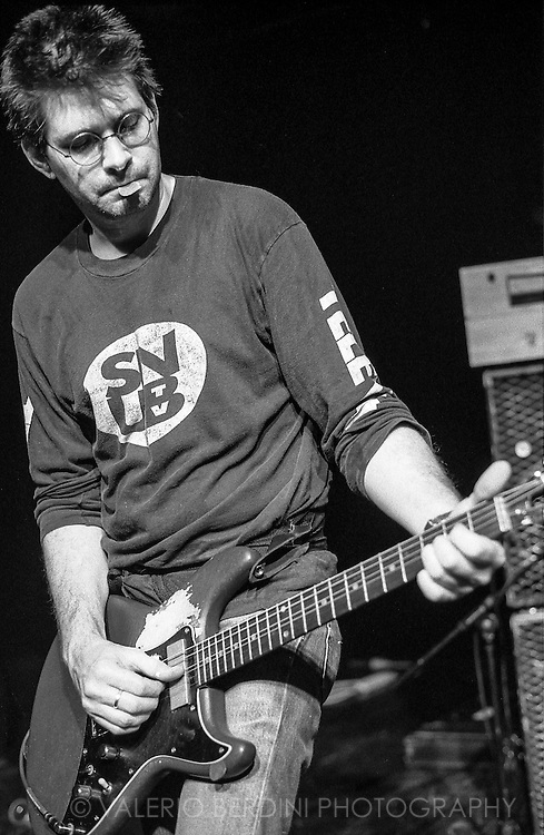 Steve Albini with Shellac live at Scala in London on 30 November 2004