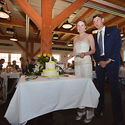 BATH, Maine -- 9/7/14 -- Wedding of Jeanz and Richard at Maine Maritime Museum.  Photo by Roger S. Duncan © 2014. <br /> <br /> Image released for all personal uses to Jeanz Holt and Richard McGovern. Resale or commercial reuse not permitted without express written consent.