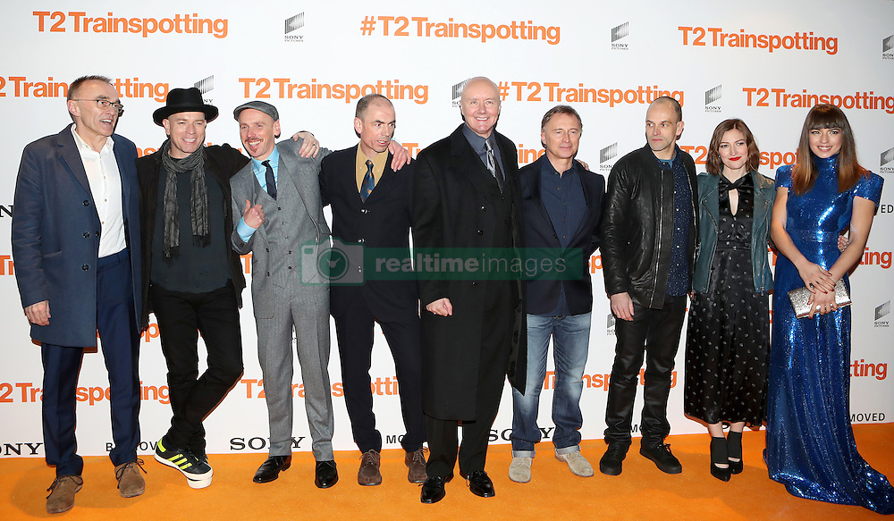 Cast, crew and directors at the world premiere of Trainspotting 2 at Cineworld in Edinburgh.