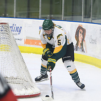 3rd year forward Jaycee Magwood (5) of the Regina Cougars in action during the Women's Hockey home game on November 18 at Co-operators arena. Credit: Arthur Ward/Arthur Images