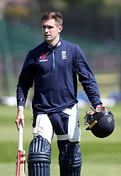 England's Chris Woakes during the nets session at the Bristol County Ground.