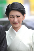De Japanse prins Akishino , prinses Kiko Prins Constantijn en Prinses Laurentien komen aan op het binnenhof Op de foto: Op de foto: prinses Kiko