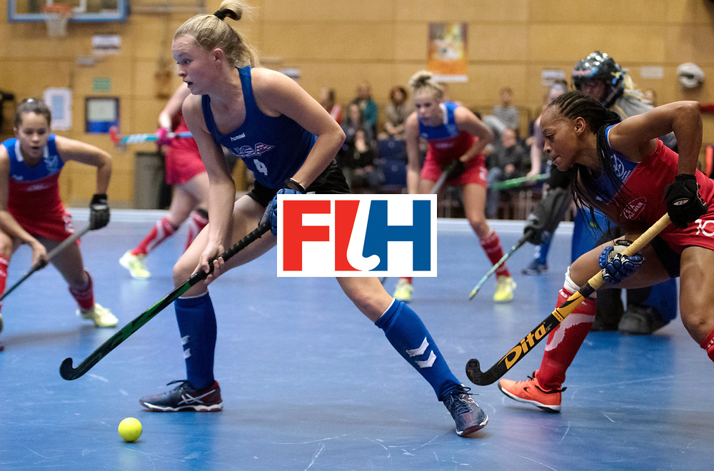 BERLIN - Indoor Hockey World Cup<br /> United States - Namibia<br /> foto: Corinne Zanolli and Magreth Mengo <br /> WORLDSPORTPICS COPYRIGHT FRANK UIJLENBROEK
