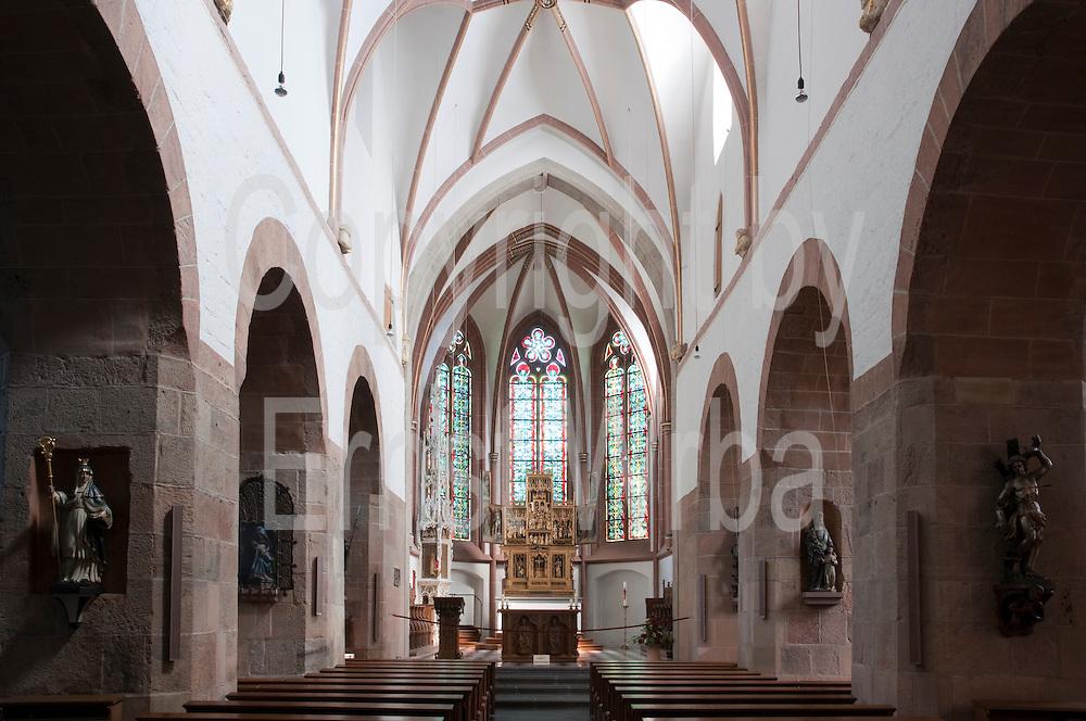 Kirche St. Martin innen, Euskirchen, Eifel, Nordrhein-Westfalen, Deutschland.|.interior, St. Martin church, Euskirchen, Eifel, North Rhine-Westphalia, Germany