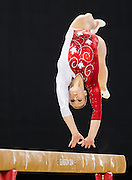 Elsabeth Black performs her gold medal routine on beam during the individual apparatus artistic gymnastics competition at the SSE Hydro during the XX Commonwealth Games in Glasgow, Scotland on August 1, 2014.