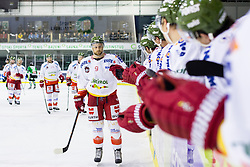 23.10.2014, Hala Tivoli, Ljubljana, SLO, EBEL, HDD Telemach Olimpija Ljubljana vs HC Bolzano Südtirol, 13. Runde, in picture Paul Zanette (HC Bolzano Sudtirol, #9) celebrates after scoring a goal during the Erste Bank Icehockey League 13. Round between HDD Telemach Olimpija Ljubljana and  HC Bolzano Südtirol at the Hala Tivoli, Ljubljana, Slovenia on 2014/10/23. Photo by Matic Klansek Velej / Sportida