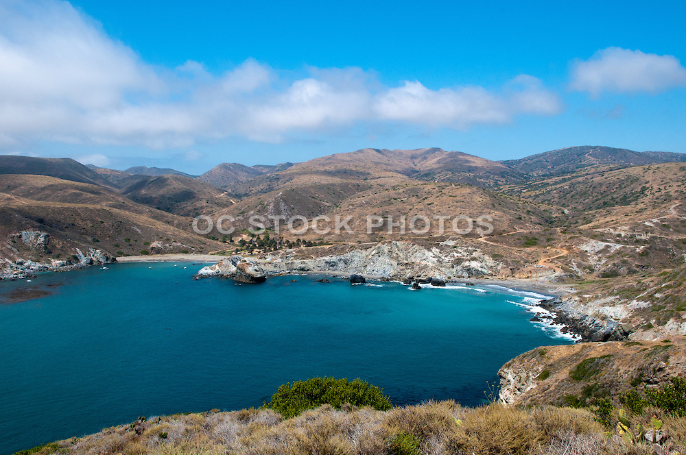 Santa Catalina Island Shark Cove and Little Harbor Scenic View