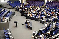 30 JUN 2005, BERLIN/GERMANY:<br /> Uebersicht des Plenarsaals, waehrend einer Abstimmung, Deutscher Bundestag<br /> IMAGE: 20050630-01-003<br /> KEYWORDS: Plenum, Reichstag, Übersicht
