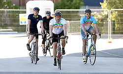 Cyclists arrive back at Ashton Gate after taking part in the 111 mile cycling challenge organised by the Community Foundations of Bristol and Gloucester Rugby - Mandatory by-line: Robbie Stephenson/JMP - 03/07/2016 - CYCLING - Ashton Gate - Bristol, United Kingdom - Break The Cycle Challenge 2016