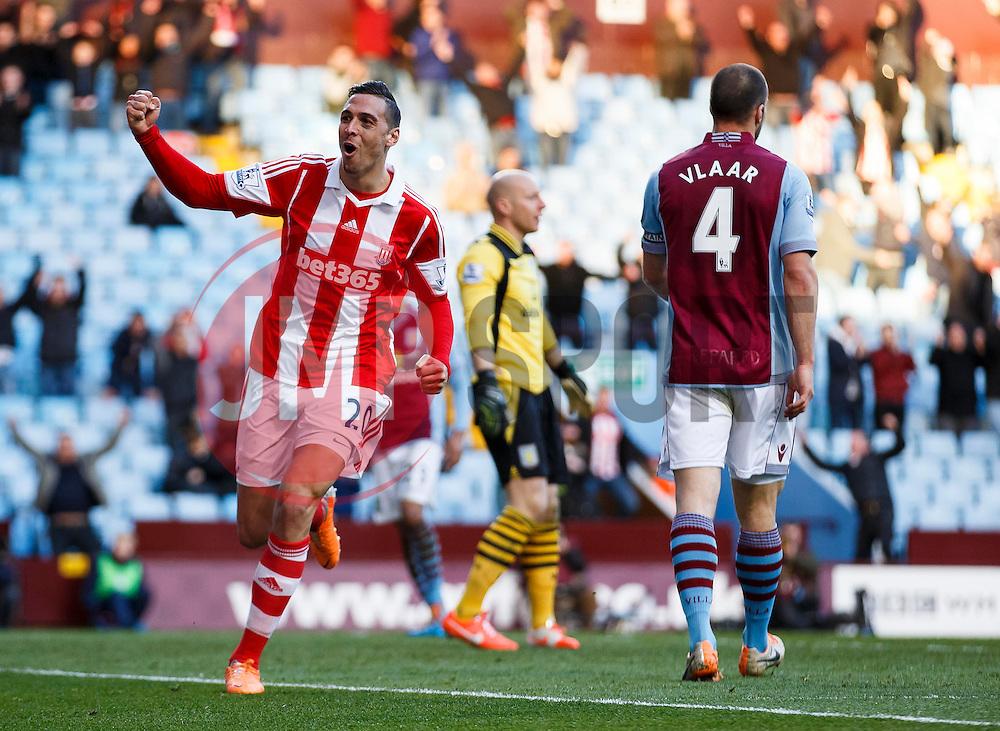 Stoke Defender Geoff Cameron (USA) celebrates scoring a goal - Photo mandatory by-line: Rogan Thomson/JMP - 07966 386802 - 23/03/2014 - SPORT - FOOTBALL - Villa Park, Birmingham - Aston Villa v Stoke City - Barclays Premier League.