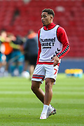 Middlesbrough midfielder Marcus Tavernier (7) during the warm up ahead of the EFL Sky Bet Championship match between Middlesbrough and Bournemouth at the Riverside Stadium, Middlesbrough, England on 19 September 2020.