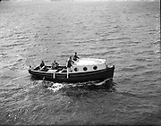 Lord Mountbatten with a new boat at Mullaghmore, Co. Sligo..29-30.07.1960