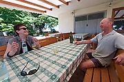 Italy, Collio. Chat with a wine farmer.