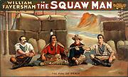 William Faversham in The squaw man or Squaw man C1905.