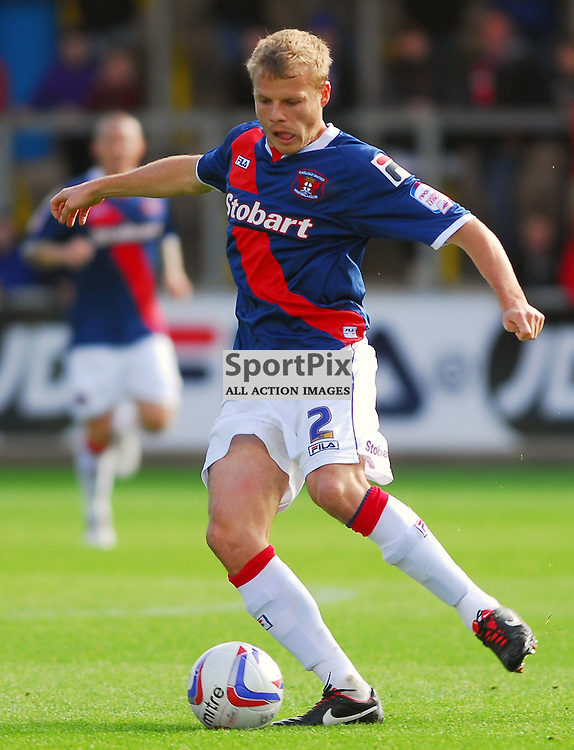 Frank Simek (Carlisle United, blue). .Carlisle v Crawley, Npower League One, 29th September 2012..(c)  Alex Todd   StockPix.eu