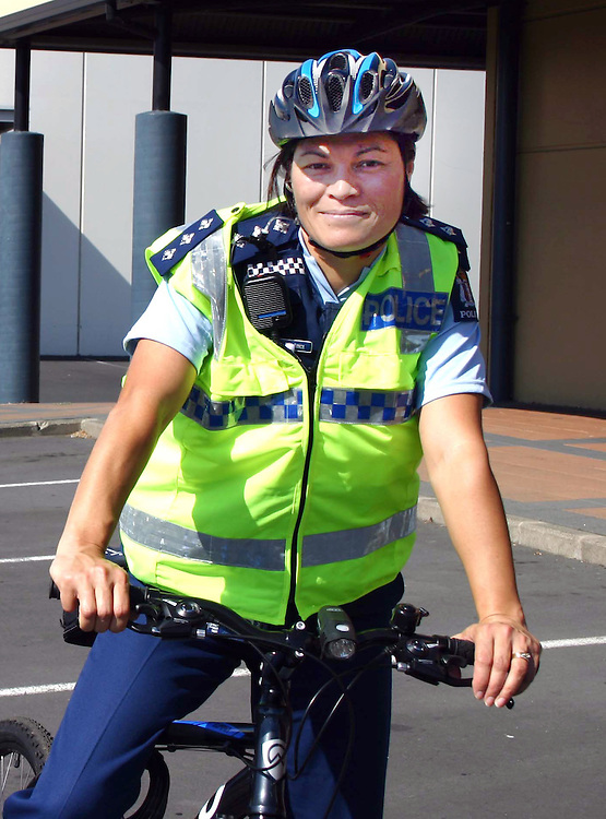 New Road Policing Manager for Counties Manukau Police, Inspector Julia Lynch out cycling around Manukau, Auckland, New Zealand, Thursday, March 07, 2013. Credit:SNPA / Grahame Clark.