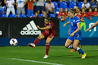 Spain's Veronica Boquete and Finland's Natalia kuikka  during the match of  European Women's Championship 2017 at Leganes, between Spain and Finland. September 20, 2016. (ALTERPHOTOS/Rodrigo Jimenez)