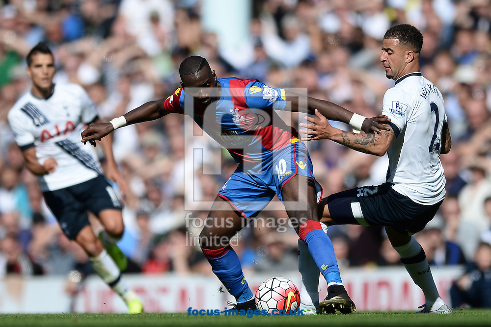 Yannick Bolasie of Crystal Palace looks to get past Kyle Walker of Tottenham Hotspur during the Barclays Premier League match between Tottenham Hotspur and Crystal Palace at White Hart Lane, London<br /> Picture by Richard Blaxall/Focus Images Ltd +44 7853 364624<br /> 20/09/2015