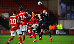 Niclas Eliasson of Bristol City competes with Jordan Williams of Barnsley for the highball -Mandatory by-line: Nizaam Jones/JMP - 18/01/2020 - FOOTBALL - Ashton Gate - Bristol, England - Bristol City v Barnsley - Sky Bet Championship