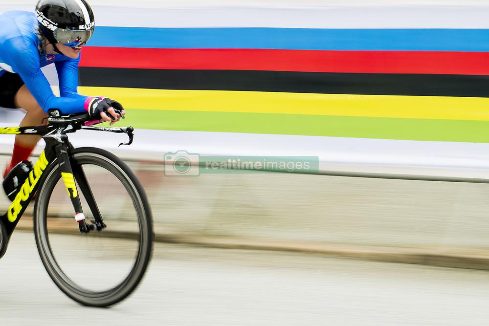 September 19, 2017 - Bergen, NORWAY - 170919 Sari Saarelainen of Finland competes during the Women Elite Individual Time Trial on September 19, 2017 in Bergen..Photo: Vegard Wivestad GrÂ¿tt / BILDBYRN / kod VG / 170017 (Credit Image: © Vegard Wivestad Gr¯Tt/Bildbyran via ZUMA Wire)