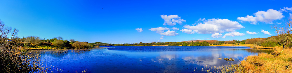 View overlooking Lough Nadarragh just off the R232 on the way to Donegal. We'd had a recent spell of cold weather which left a sheath of ice over the lake on the left hand side.<br />