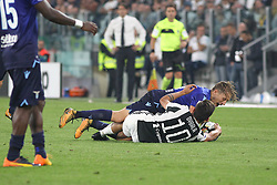 October 14, 2017 - Turin, Piedmont, Italy - Paulo Dybala (Juventus FC) and Ciro IMMOBILE (SS Lazio)  compete for the ball during the Serie A football match between Juventus FC and SS Lazio at Olympic Allianz Stadium on 14 October, 2017 in Turin, Italy. (Credit Image: © Massimiliano Ferraro/NurPhoto via ZUMA Press)