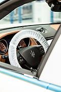 TORINO, Mirafiori, Produzione Maserati Levanto, dettaglio abitacolo nelle utlime fasi dell'assemblaggio the production chain of Maserati Levante