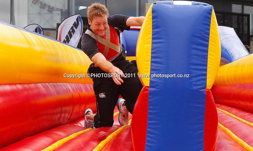 Blackcap Martin Guptill during the HRV Cup Cricket Blackcaps Day, Papatoetoe Recreation Centre, Auckland, 10 November 2011. Photo: Simon Watts / photosport.co.nz