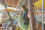 Jude Solomon, 5, of Neosho, Mo., plays in the canopy climber at the Scott Family Amazeum on Friday, February 19, 2016, in Bentonville, Arkansas. Beth Hall for the New York Times