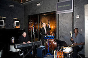 Marcus Goldhaber and the Jon Davis Trio perform at the Night Hotel in New York City, NY.