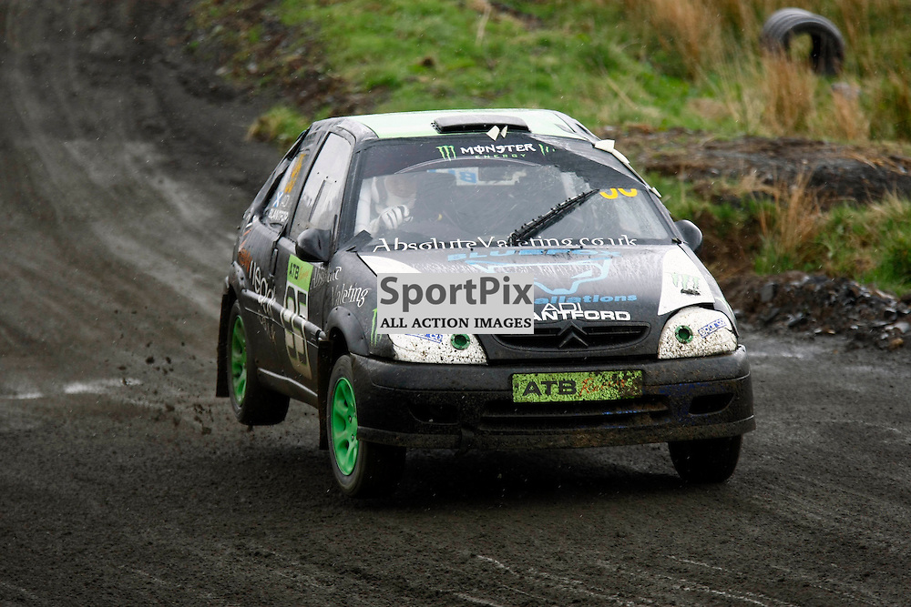 MSA British Rallycross Round 3, Knockhill Scotland 12th May 2013. Local driver Adrian Blantford, Citroen Saxo VTS - HotHatch 95. (c) MATT BRISTOW