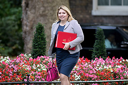 © Licensed to London News Pictures. 17/10/2017. London, UK. Secretary of State for Digital, Culture, Media and Sport Karen Bradley arriving in Downing Street to attend a Cabinet meeting this morning. Photo credit : Tom Nicholson/LNP