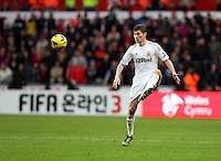 Sunday, 25 November 2012..Pictured: Ben Davies of Swansea..Re: Barclays Premier League, Swansea City FC v Liverpool at the Liberty Stadium, south Wales.