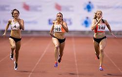 Ella Neslon of Australia, Sabina Veit and Maja Mihalinec of Slovenia compete at 200m Women during 20th European Athletics Classic Meeting in Honour of Miners' Day in Velenje on July 1, 2015 in Stadium Velenje, Slovenia. Photo by Vid Ponikvar / Sportida