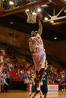 Reggie Williams slams it home for two of his game-high 36 points against Southern Virginia.