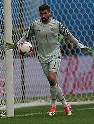 June 22, 2017 - Saint Petersburg, Russia - Maty Ryan of the Australia national football team vie for the ball during the 2017 FIFA Confederations Cup match, first stage - Group B between Cameroon and Australia at Saint Petersburg Stadium on June 22, 2017 in St. Petersburg, Russia. (Credit Image: © Igor Russak/NurPhoto via ZUMA Press)