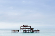Remains of the West Pier, Brighton, East Sussex.<br /> Picture date: Saturday September 17, 2016.<br /> Photograph by Christopher Ison &copy;<br /> 07544044177<br /> chris@christopherison.com<br /> www.christopherison.com