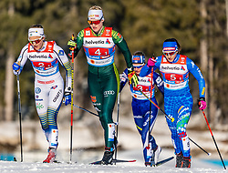 24.02.2019, Langlauf Arena, Seefeld, AUT, FIS Weltmeisterschaften Ski Nordisch, Seefeld 2019, Langlauf, Damen, Teambewerb, im Bild v.l. Stina Nilsson (SWE), Victoria Carl (GER), Greta Laurent (ITA) // f.l. Stina Nilsson of Sweden Victoria Carl of Germany and #451# during the ladie's cross country team competition of FIS Nordic Ski World Championships 2019 at the Langlauf Arena in Seefeld, Austria on 2019/02/24. EXPA Pictures © 2019, PhotoCredit: EXPA/ Stefan Adelsberger