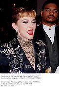Madonna at the Vanity Fair Oscar Night Party. 1997 Mortons, Los Angeles 24 March 1997. Film 97752/28<br />
