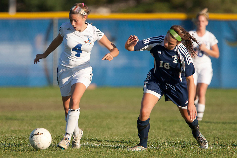Gloucester County College Sophomore Midfielder Mary Kate Morrison (4)..Gloucester County College defeats Middlesex County College 1-0 in a NJCAA Region XIX Semi-Final at Gloucester County College in Sewell, NJ on Tuesday, October 25, 2011.